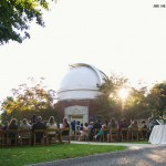 Ceremony in front of Observatory